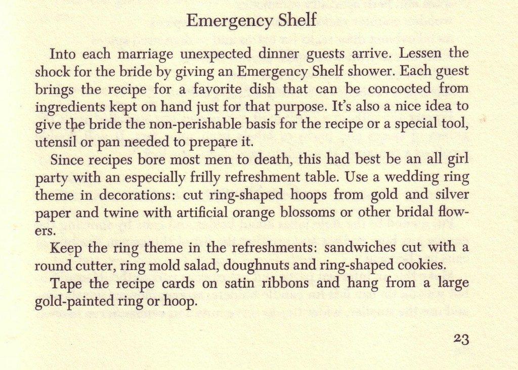 Emergency Shelf