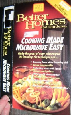 vhs cover microwave cooking
