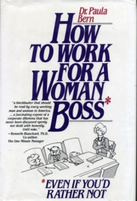 how to work for a woman boss