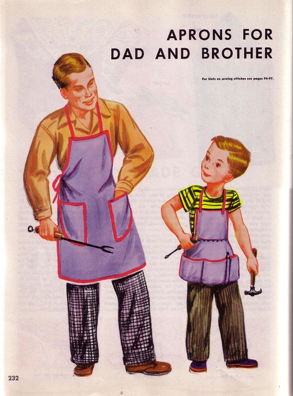 Aprons for Dad and Brother