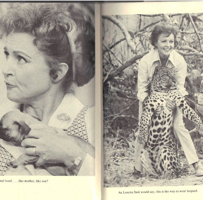 Betty White with a leopard