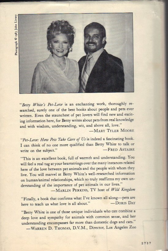 Betty White's Pet Love back cover