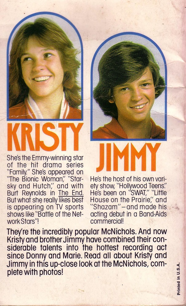 Jimmy and Kristy back cover