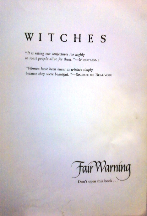 Witches title page