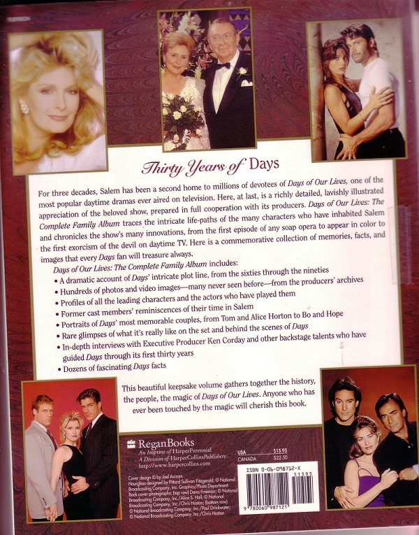 Days of Our Lives back cover