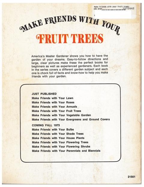 Jerry Baker Fruit Trees back cover