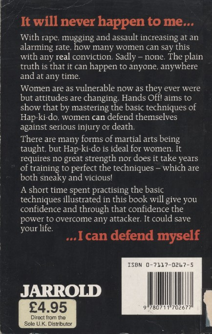 Hands Off back cover