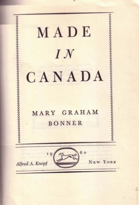 Made in Canada cover