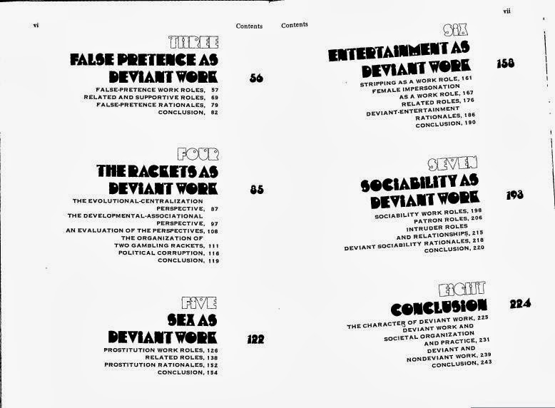 Odd Jobs table of contents