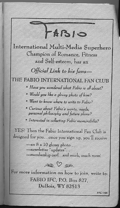 Fabio International Fan Club