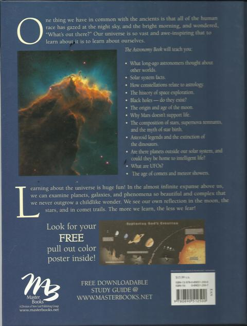 The Astronomy Book - back cover