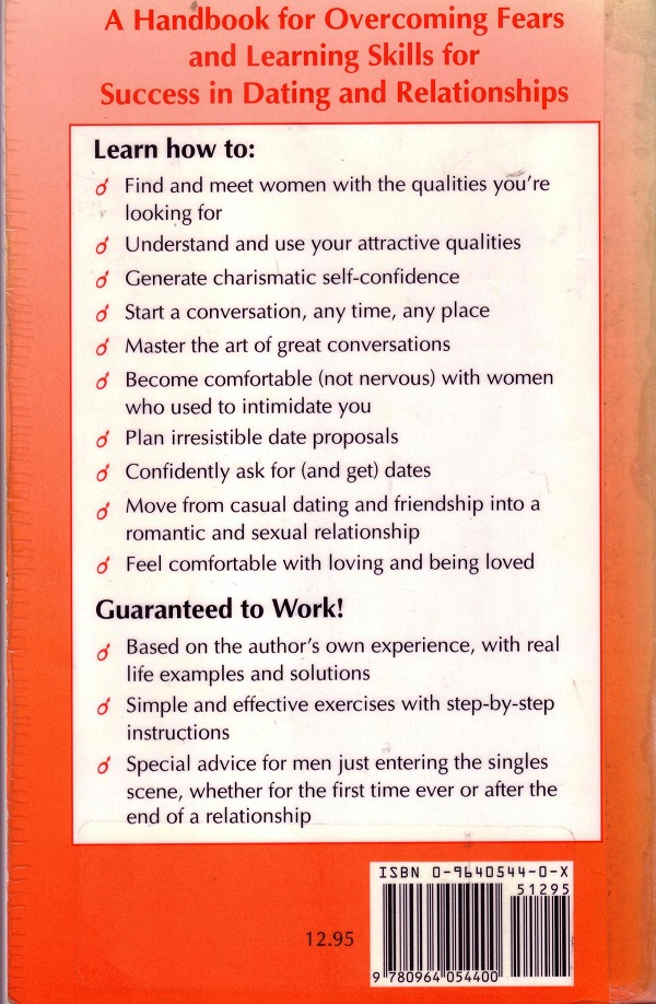 Shy Man's Guide to success with women back cover