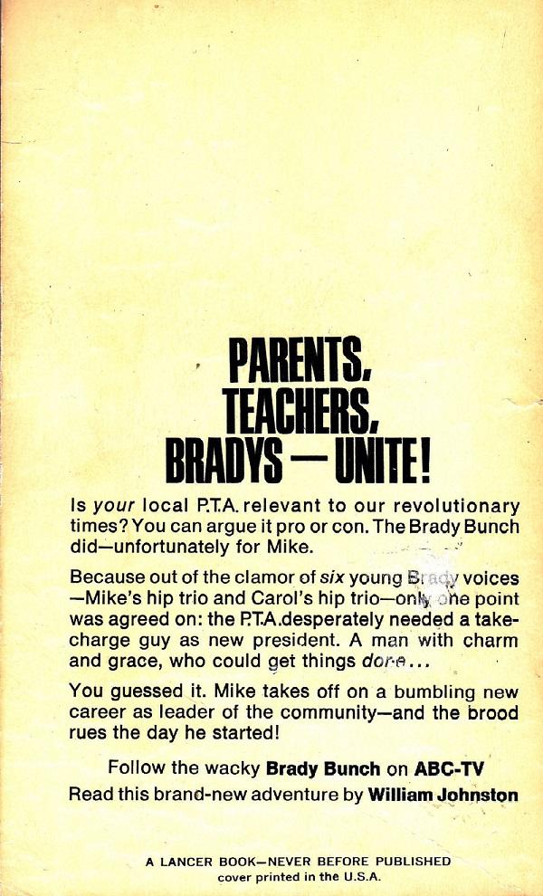 Parents, Teachers, Bradys, Unite