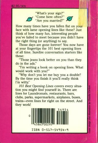 101 Best Opening Lines back cover