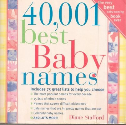 40,001 best baby names cover