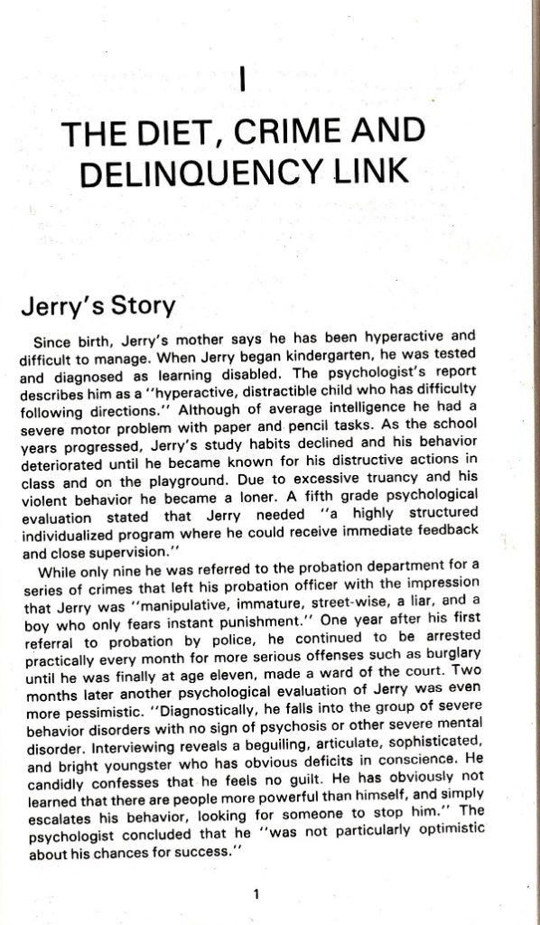 Jerry's story