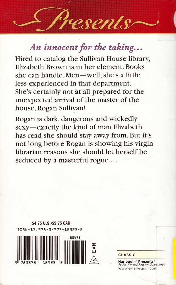 The Master's Mistress back cover