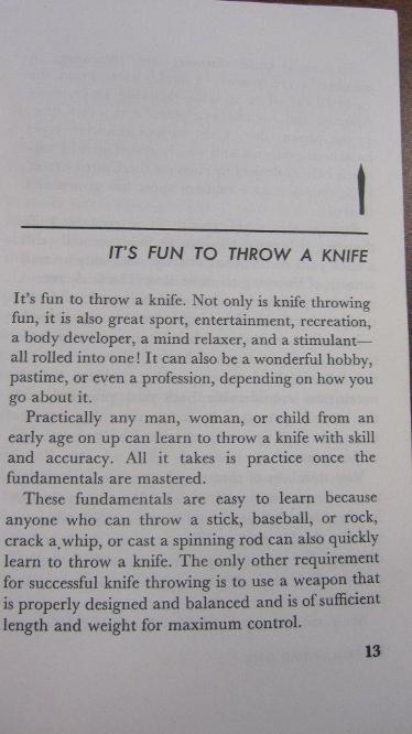 It's fun to throw a knife