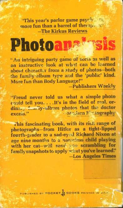 Photo Analysis back cover