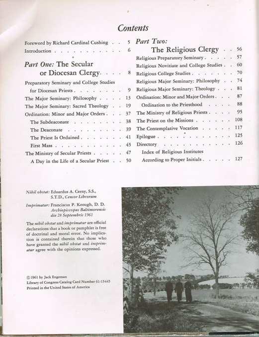 Catholic Priest contents