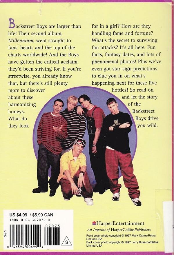 Backstreet Boys back cover