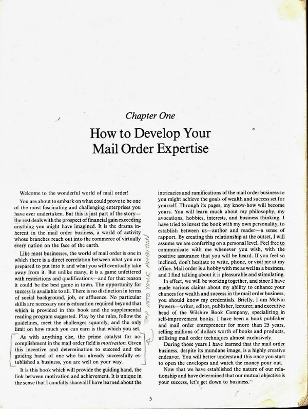 Develop your mail order expertise