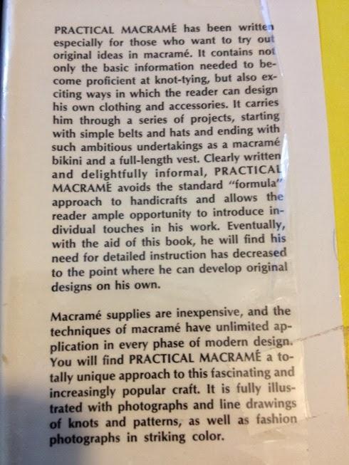 Practical Macrame inside flap