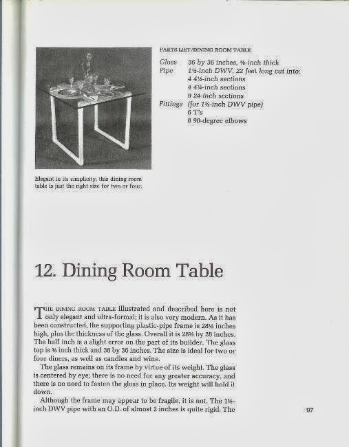 Plastic Pipe Furniture dining room table