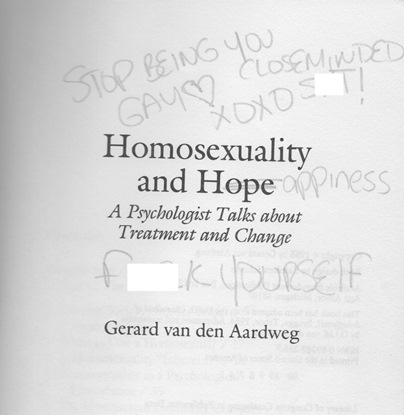 Homosexuality and Hope title page