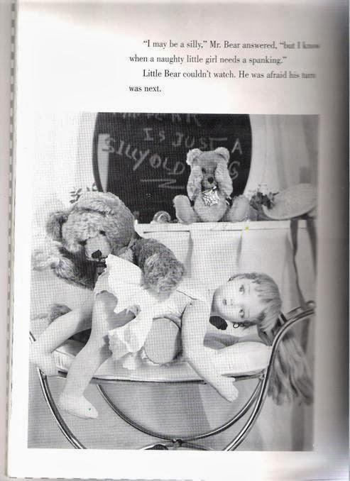 Teddy bear spanks Edith