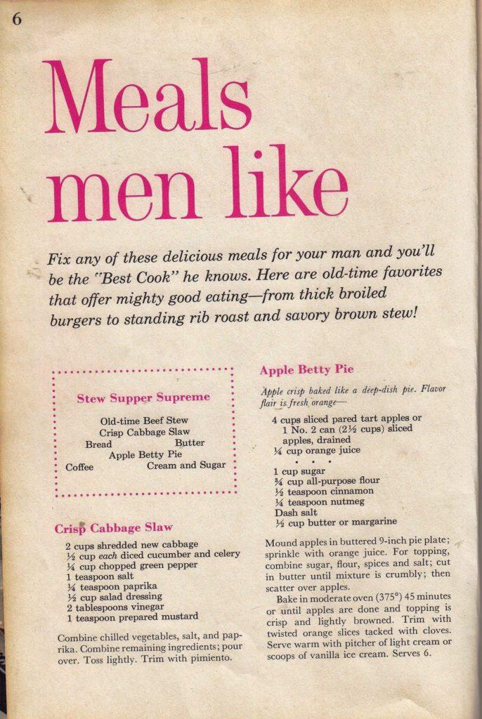 meals men like