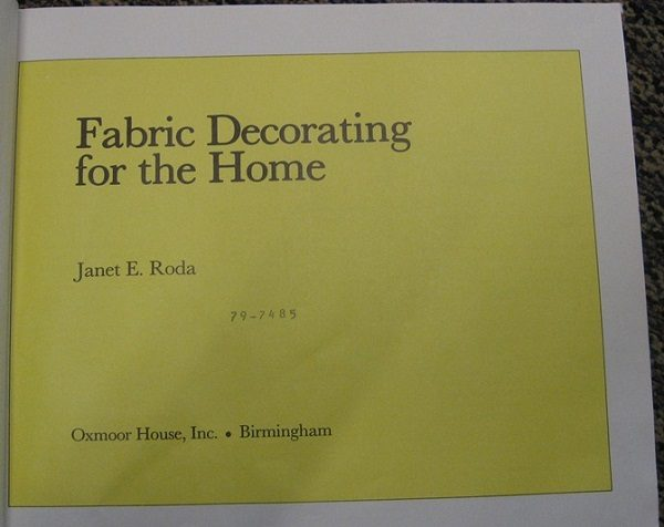Fabric Decorating for the Home title page