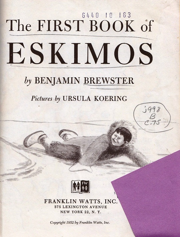 First book of Eskimos cover