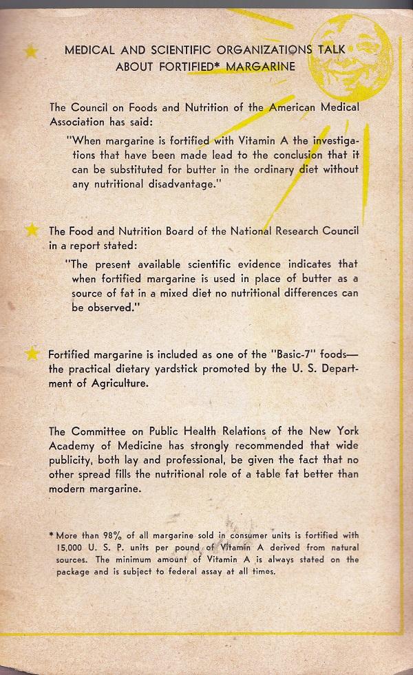 Scientific info about margarine