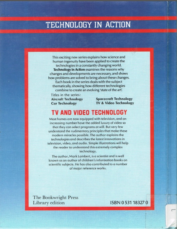 Technology and video back cover