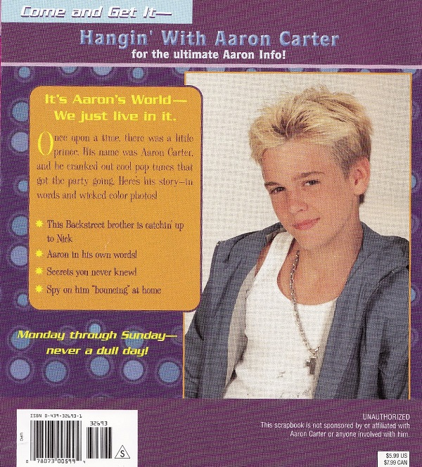 Aaron Carter - back cover