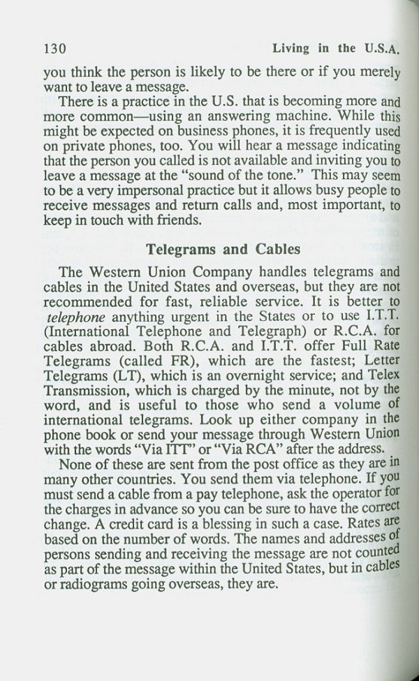 telegrams and cables