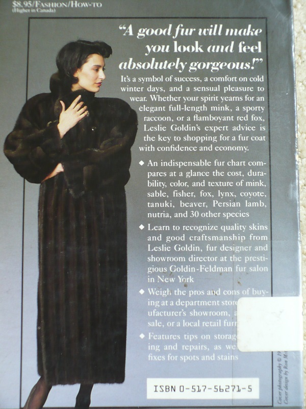 Fur coat back cover