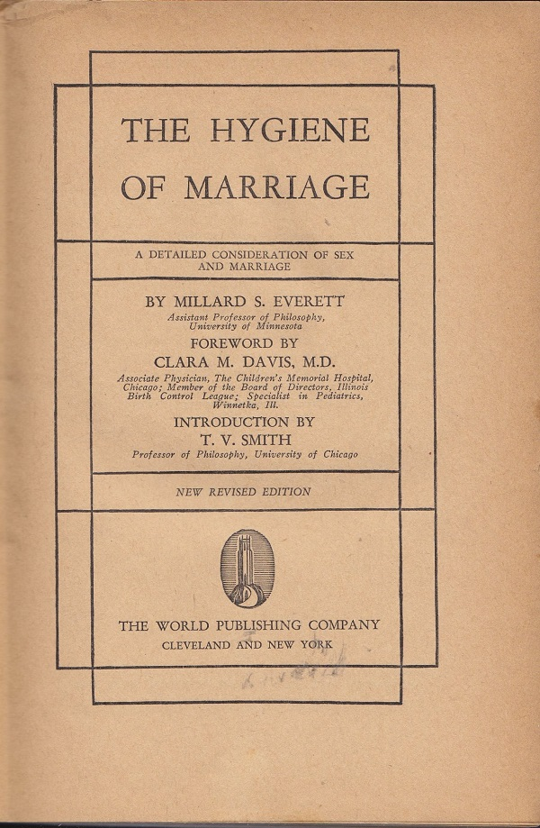 The Hygiene of Marriage - title page