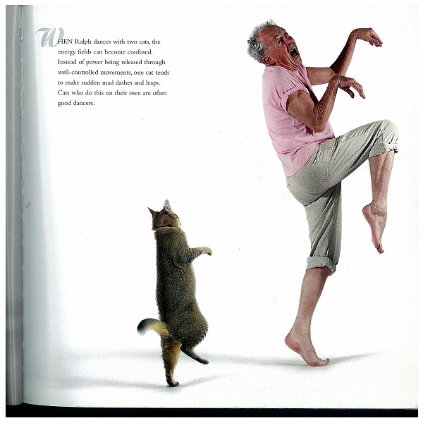 Ralph dances with cats