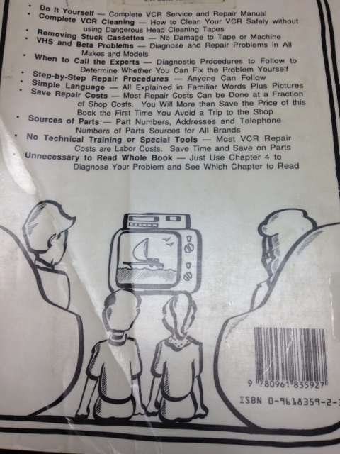 How to Keep Your VCR Alive back cover