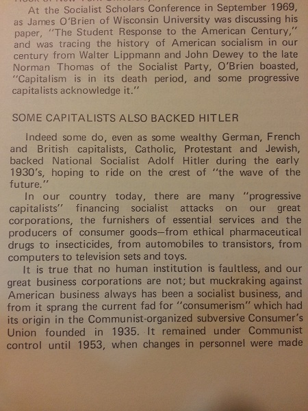 Some capitalists backed Hitler