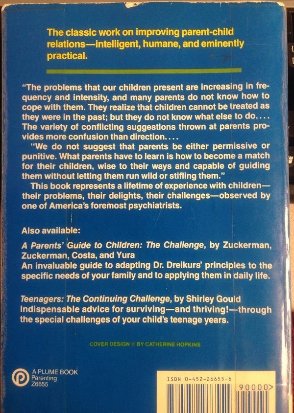 Children the Challenge back cover
