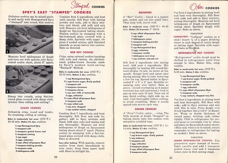 Spry's easy stamped cookies