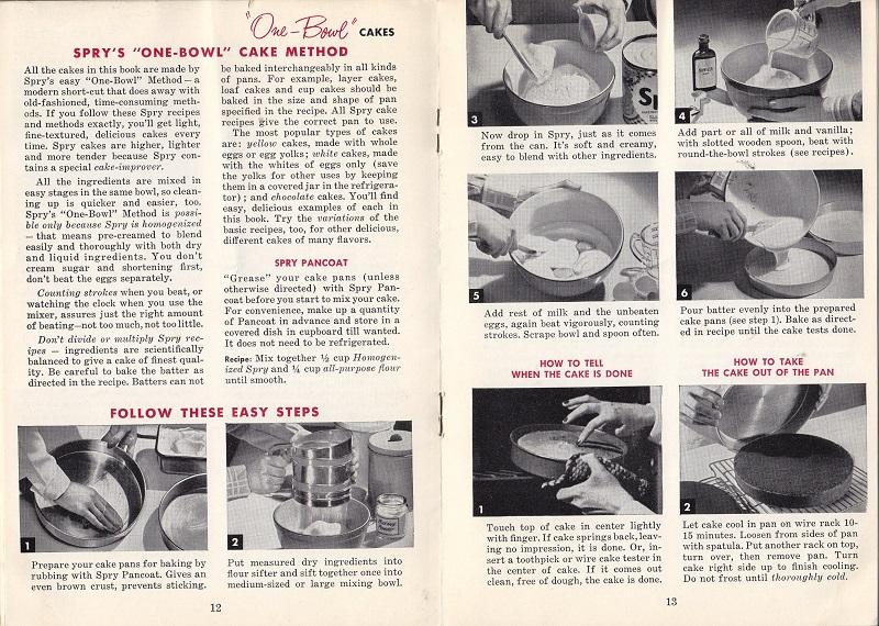 Spry's one bowl cake method