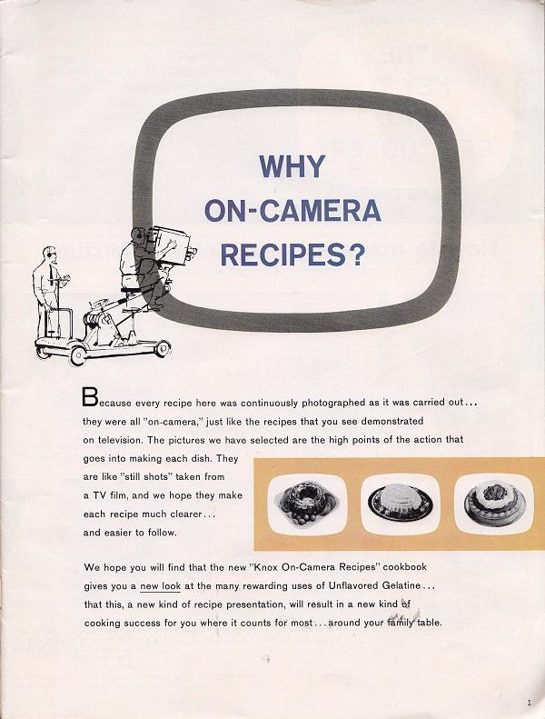Why On-Camera Recipes?