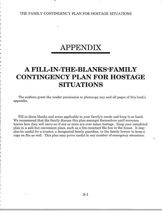 Surviving Hostage Situations appendix