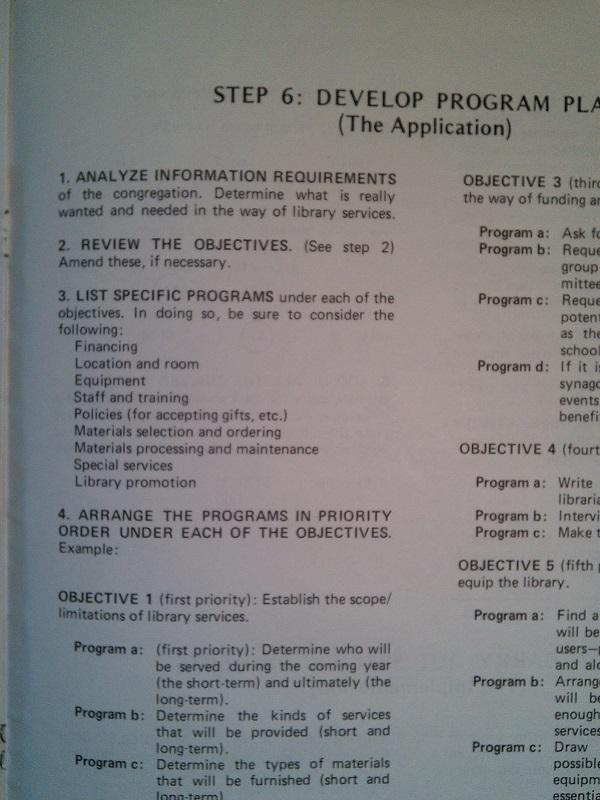 Develop program plan
