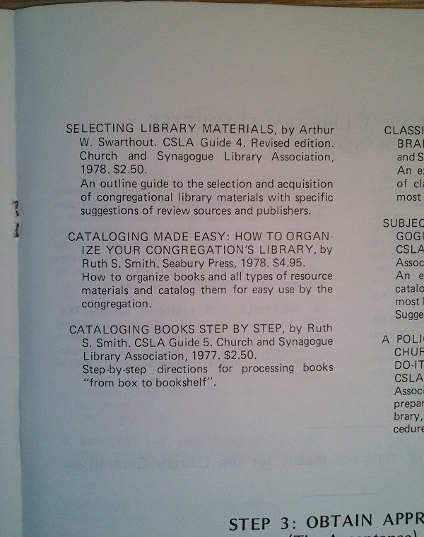 Selecting library materials