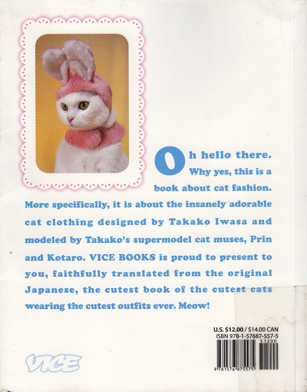 Fashion Cats back cover